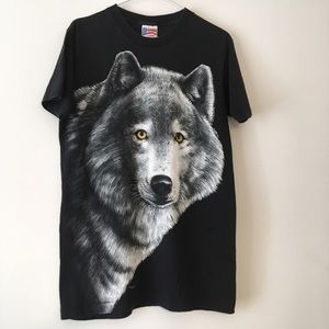 Other - Vintage large wolf graphic tee M
